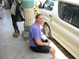 Chillin' on a corner in Haiti